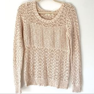 Staring At Stars Anthropologie Peach Sweater med
